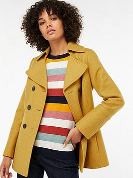 monsoon-pippa-longer-pea-coat-ochre