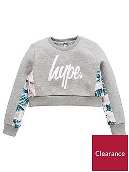hype-girls-logo-floral-sweat-grey-marl