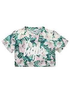 hype-girls-palm-print-crop-t-shirt