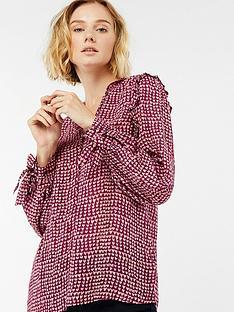 monsoon-hope-heart-print-blouse-rednbsp