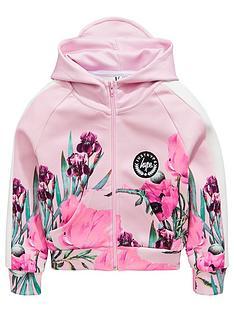hype-girls-border-floral-zip-hoody