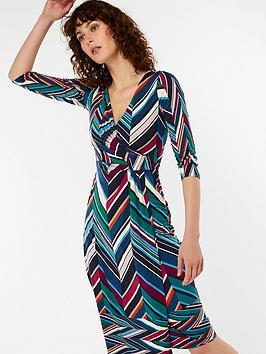 Monsoon Arabella Ruched Waist Dress - Printed