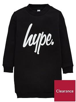 hype-girls-script-sweater-dress-black