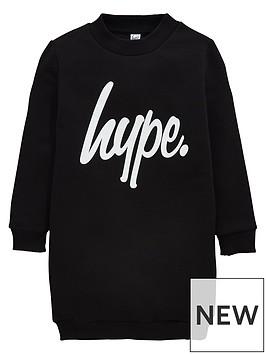 hype-girls-script-sweater-dress