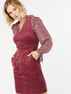 monsoon-connie-cord-dress-burgundynbsp