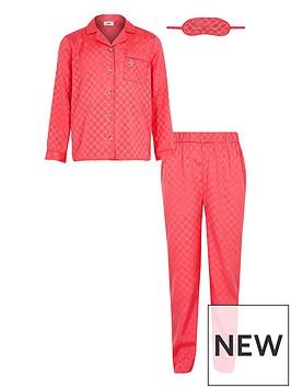 river-island-girls-pink-satin-pyjama-set