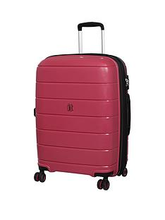 d8831f10c4 it Luggage Asteroid 8-Wheel Hard Shell Double Expander Medium Case with TSA  Lock