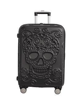 It Luggage Skulls 8-Wheel Hard Shell Expander Medium Case