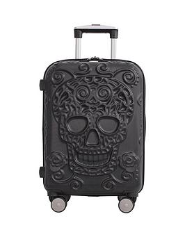 It Luggage Skulls 8-Wheel Hard Shell Expander Cabin Case