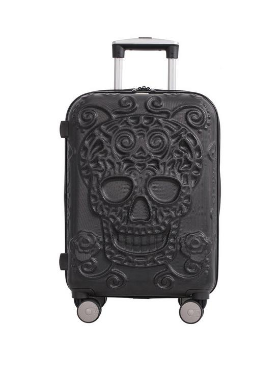 6dda6f2008 it Luggage Skulls 8-Wheel Hard Shell Expander Cabin Case