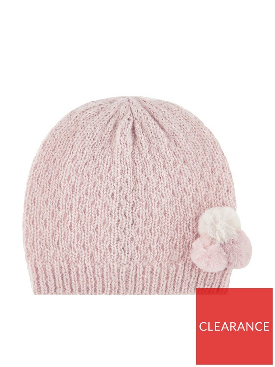 e5304907cfd Monsoon Girls Polly Pompom Hat