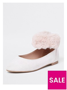 river-island-girls-faux-fur-cuff-ballerina-shoe