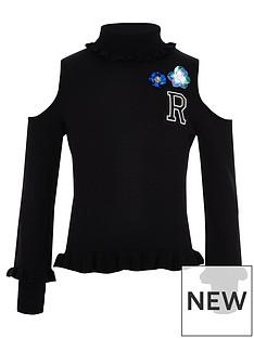 river-island-girls-black-embellished-cold-shoulder-jumper