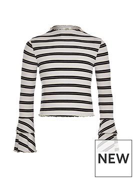 river-island-girls-stripe-rib-frill-long-sleeve-top