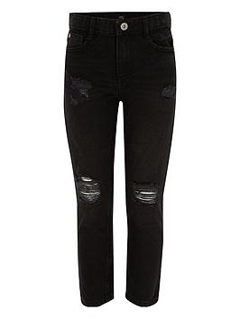 river-island-girls-black-molly-ripped-straight-leg-jeans