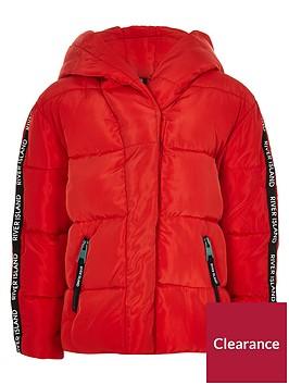 river-island-girls-red-ri-tape-hooded-padded-jacket