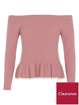 river-island-girls-pink-bardot-peplum-hem-top