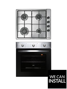 candy-coghp60x-60cm-electric-single-oven-amp-gas-hob-pack-with-optional-installation-stainless-steel
