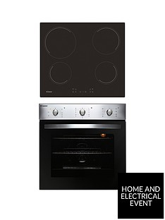 candy-coehp60x-60cm-electric-single-oven-amp-ceramic-hob-pack-with-optional-installationnbsp--stainless-steel