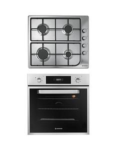 hoover-hprgm60ss-60cmnbspbuilt-in-electric-single-oven-amp-gas-hob-pack-with-optional-installation-stainless-steel