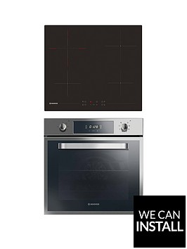 hoover-hprce60ss-60cmnbspbuilt-in-electric-single-oven-amp-ceramic-hob-pack-with-optional-installation-stainless-steel