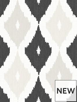superfresco-easy-ikat-black-amp-beige-wallpaper