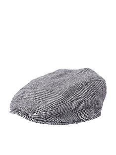 river-island-mini-boys-grey-check-flat-peak-cap