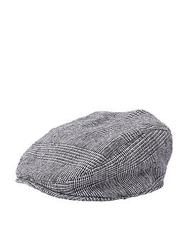 river-island-mini-boys-grey-check-flat-peak-cap