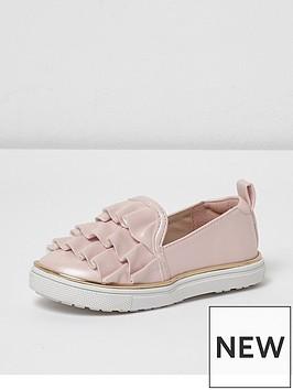 river-island-mini-girls-pink-satin-ruffle-plimsolls