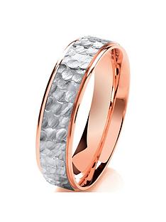 love-gold-9ct-rose-gold-amp-palladium-two-tone-hammered-effect-6mm-wedding-band