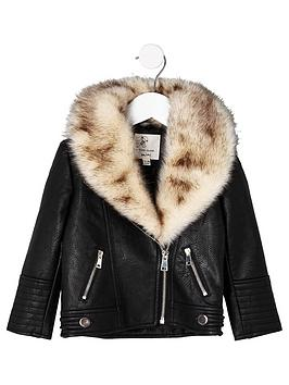 river-island-mini-girls-black-faux-fur-trim-biker-jacket