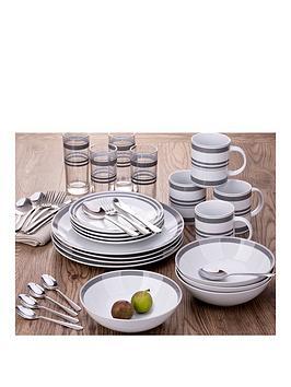waterside-bistro-grey-stripe-36-piece-combination-dinner-set