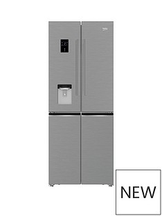 beko-gne480e20fdzx-76cm-no-frost-4-door-american-fridge-freezer-stainless-steel