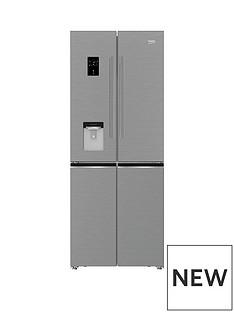 Beko GNE480E20FDZX 76cm No Frost 4 Door Americian Fridge Freezer - Stainless Steel