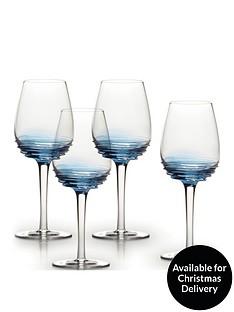 creative-tops-mikasa-swirl-105oz-white-wine-glasses-cobalt-set-of-4