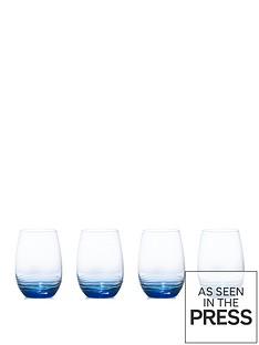creative-tops-mikasa-swirl-165oz-stemless-wine-glasses-cobalt-set-of-4