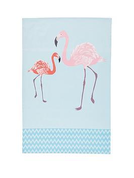 kitchen-craft-kitchencraft-flamingo-100-cotton-tea-towels-pack-of-2
