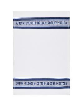 kitchencraft-classic-navy-jacquard-100-cotton-tea-towels-70cm-x-47cm-set-of-2