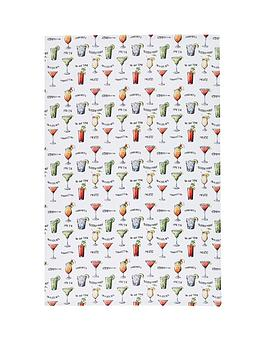 kitchen-craft-kitchencraft-039cocktail-menu039-100-cotton-tea-towels-70cm-x-47cm-set-of-2