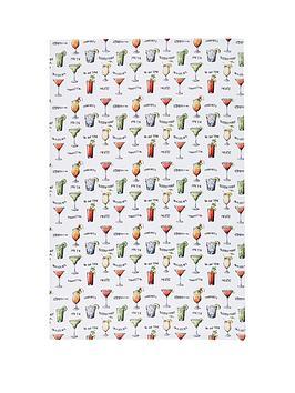 kitchencraft-cocktail-menu039-100-cotton-tea-towels-70cm-x-47cm-set-of-2