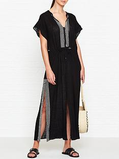 seafolly-embroidered-maxi-shirt-dress-black