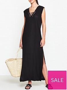seafolly-lace-up-jersey-maxi-dress-black