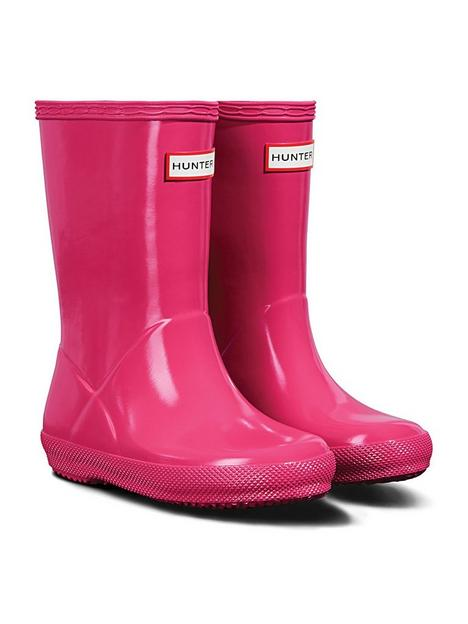 hunter-original-infant-first-classic-gloss-wellington-boots-bright-pink