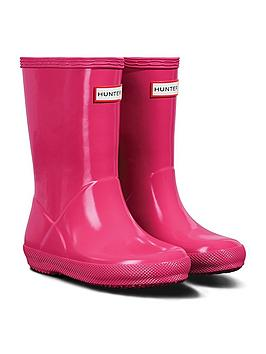 hunter-original-infant-first-classic-gloss-wellington-boots-bright-pink