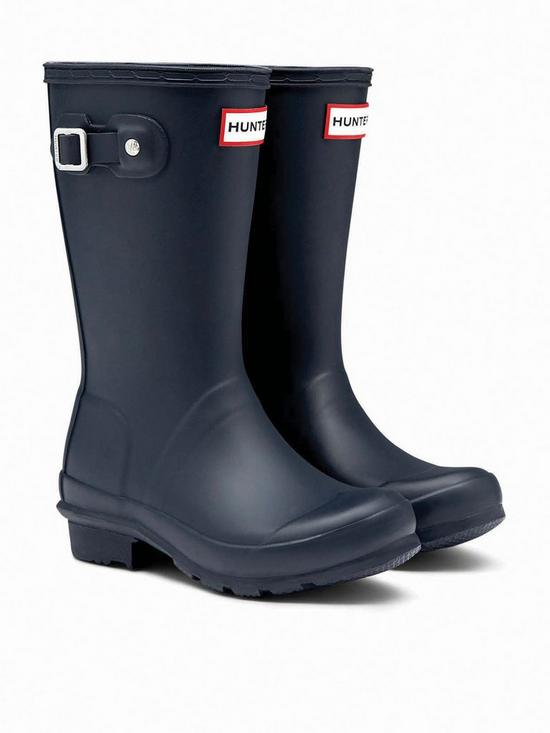 Hunter Original Kids Wellington Boots - Navy  75fe2951657d1
