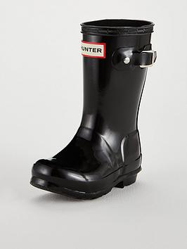 hunter-original-kids-gloss-wellington-boots-black