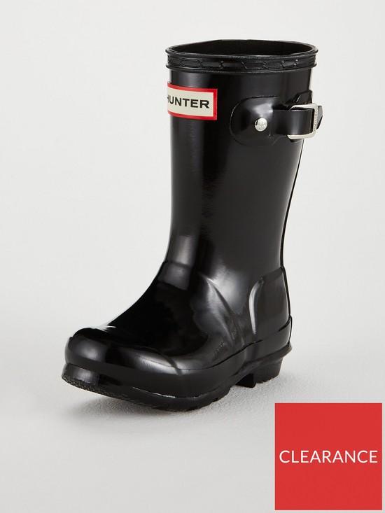 1caaa372c Hunter Original Kids Gloss Wellington Boots - Black | very.co.uk