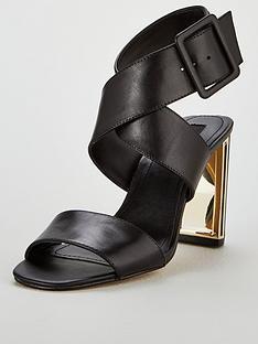 1344fb6ef4c3 DKNY Heidi Ankle Strap Sandal Heeled Shoes - Black