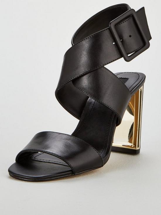 48998115c DKNY Heidi Ankle Strap Sandal Heeled Shoes - Black | very.co.uk