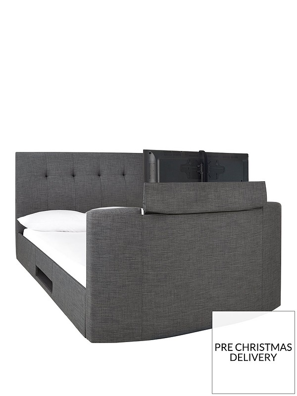 Astounding Avelon Fabric Side Lift Ottoman Storage Tv Bed With Bluetooth Usb Chargers Mattress Options Buy And Save Andrewgaddart Wooden Chair Designs For Living Room Andrewgaddartcom